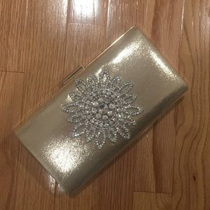 Handbags - Jeweled occasion clutch! NEVER USED